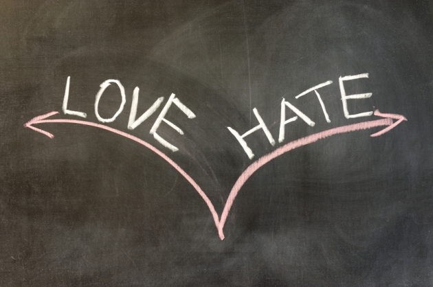Chalk drawing - Love or hate